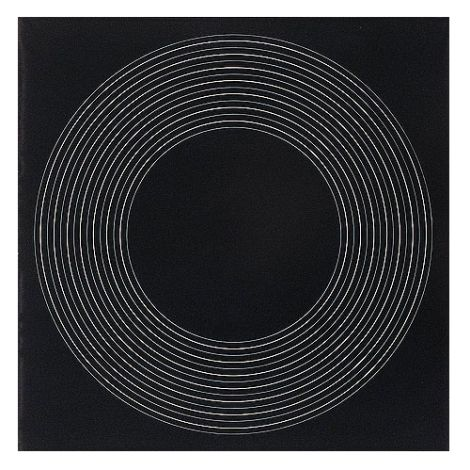 'Black Painting Concentric Circles' (oil on board) by Ralph Hotere.