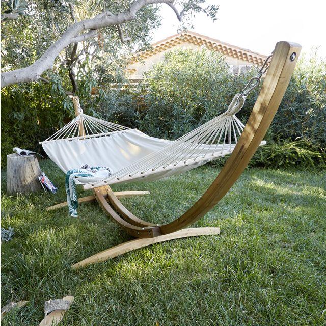 hamac et support bois jobek corcovado meubles jardin pinterest hamacs castorama et support. Black Bedroom Furniture Sets. Home Design Ideas