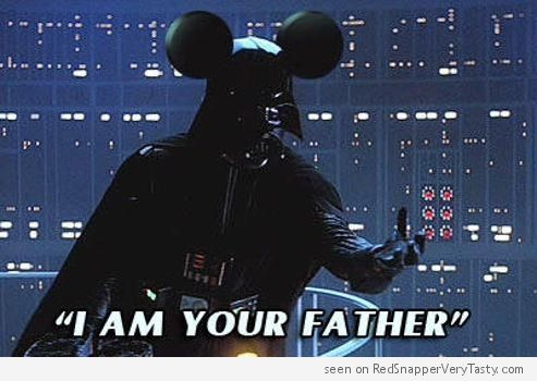 61ca3d6374f1a51bf5ea2f400074fd4e darth vader mickey mouse i am your father geek humor