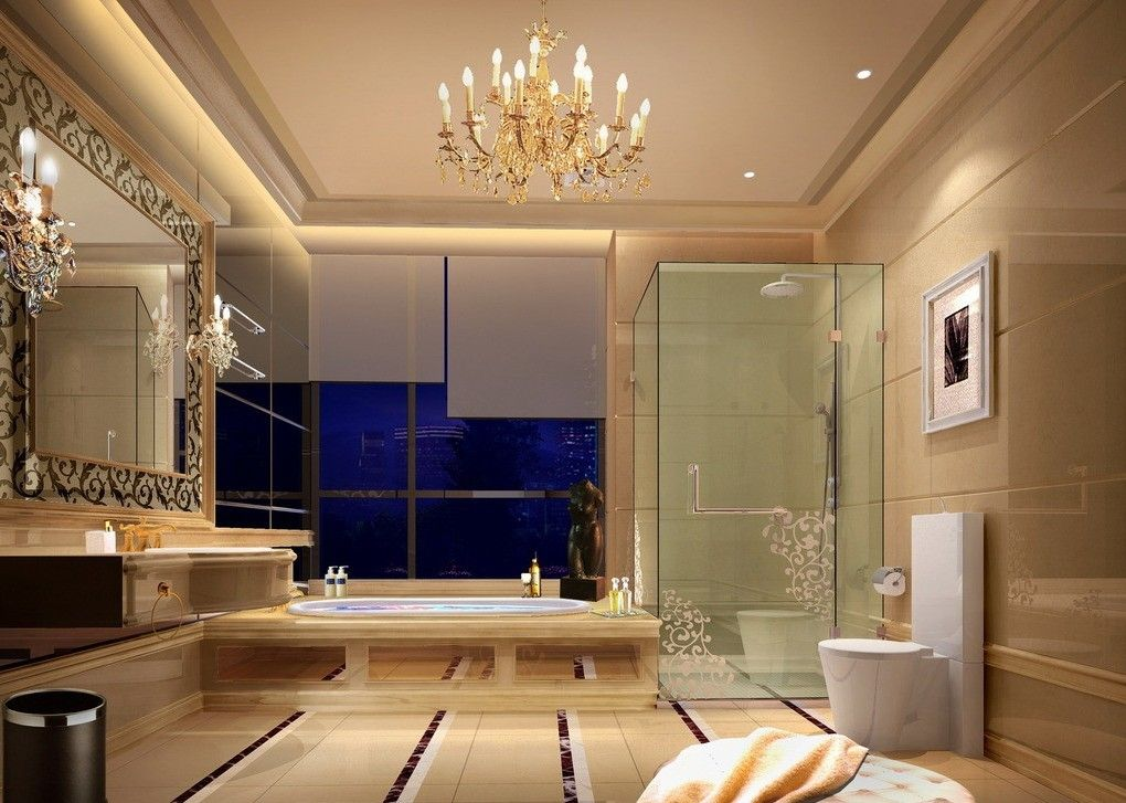 European style luxury bathrooms upscale hotel bathroom for Bathroom designs 3d