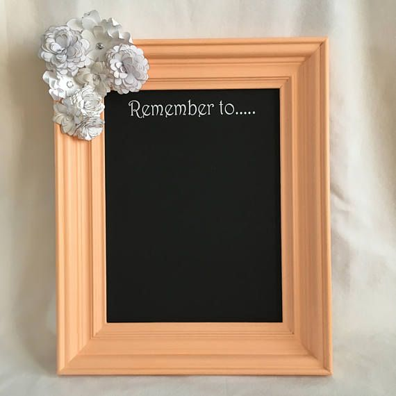 Carotene Coral 10x13 Framed Chalkboard with White Paper | For the ...