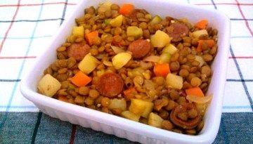 Photo of Lentilha com linguiça e legumes