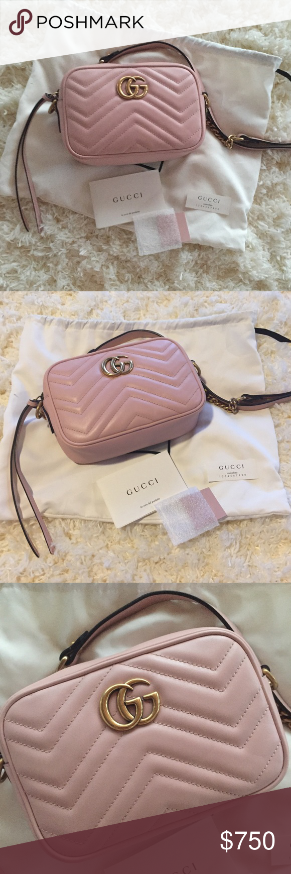 529a681e6ea09 Authentic Gucci Mini Marmont Camera Bag - Authentic