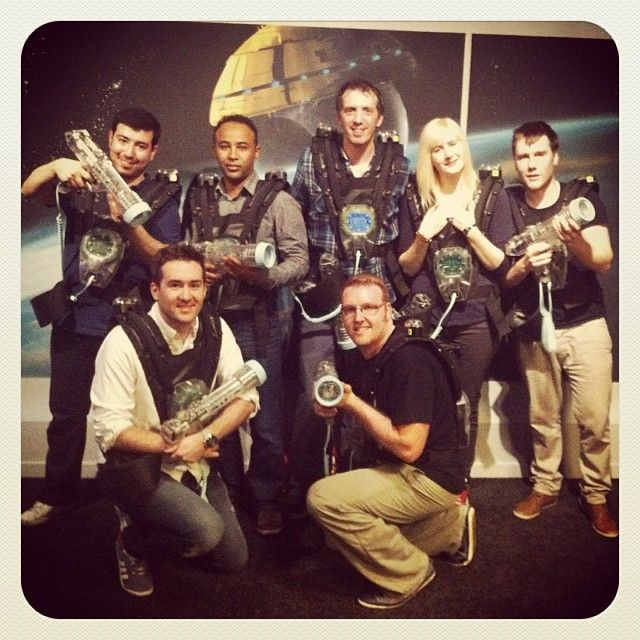 13strides team photo at Laser Quest Xmas Party, Sunderland #RelivingMyYouth #MajorLaser