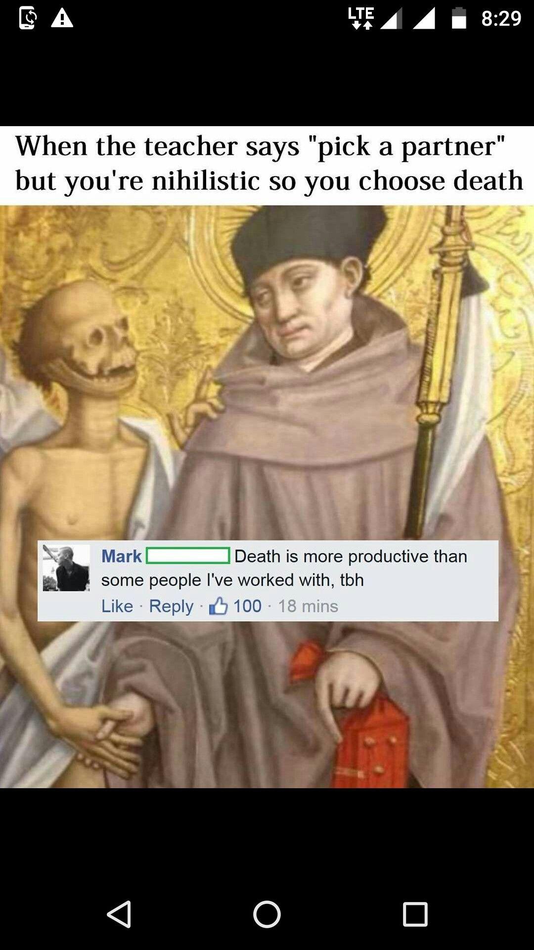 "Art jokes image by Potassium Cyanide on ""classic"" art"