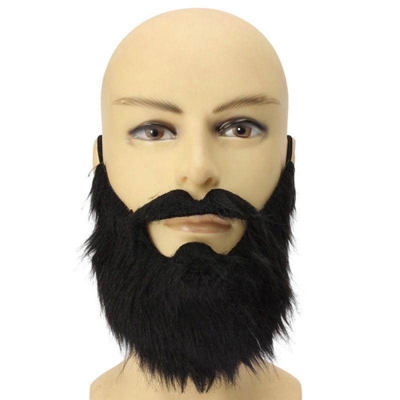 fancy dress fake beards halloween costume party moustache black halloween for pirate dwarf elf james harden - Halloween Costumes Parties