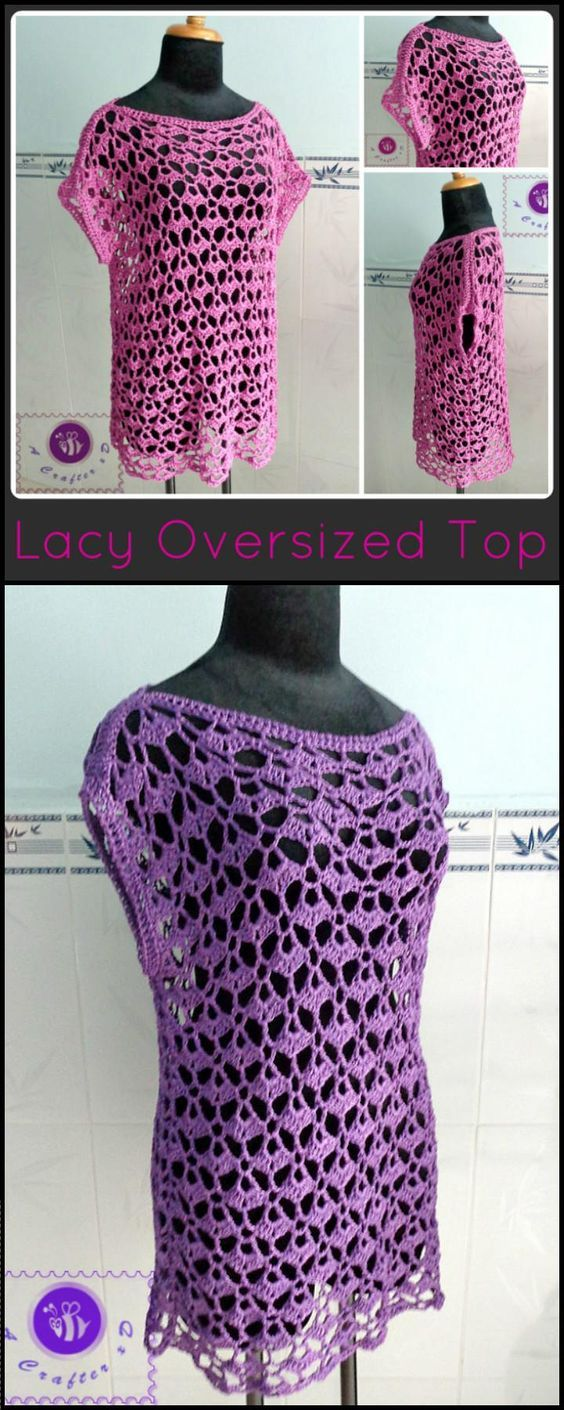 50+ Quick & Easy Crochet Summer Tops - Free Patterns | Blusas ...