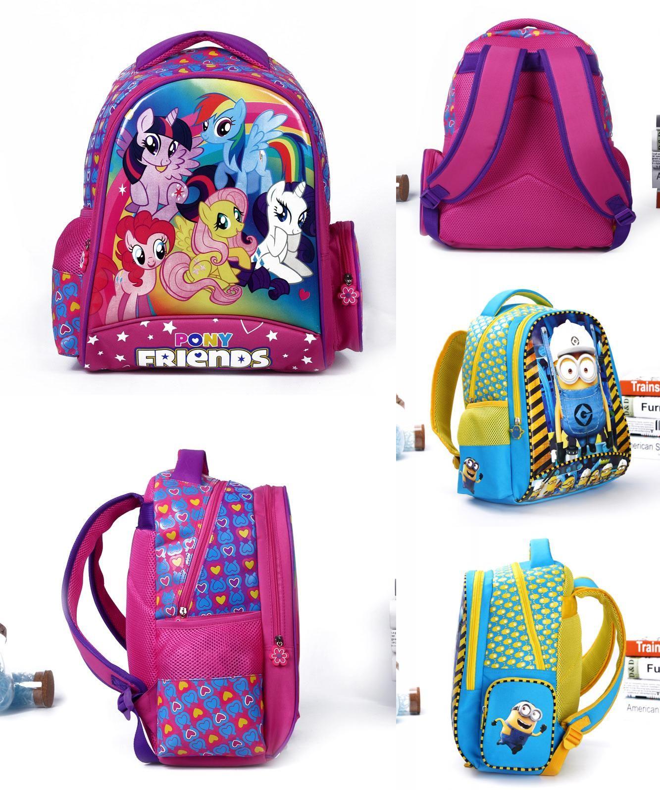 e59c4da21 [Visit to Buy] Cartoon my little pony children school bags for girls lovely backpack  kid schoolbag boys minions child mochila escolar infantil # ...