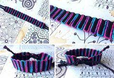 Double wave variegated alpha friendship bracelet tutorial