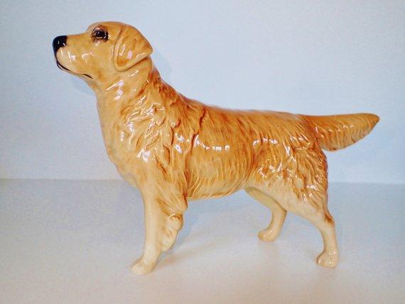 Vintage Beswick England Golden Retriever Dog Figurine Cabus Cadet