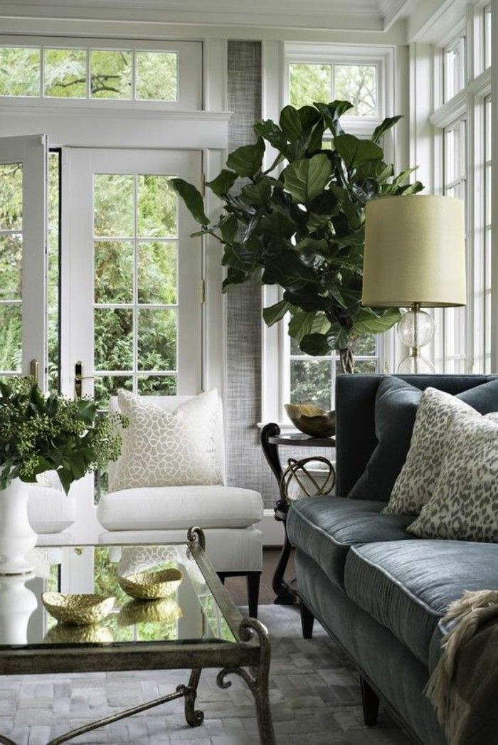Indoor Plants Living Room Dekoideen Stylish Carpet Pattern French Country Living Room French Country Decorating Living Room Country Living Room