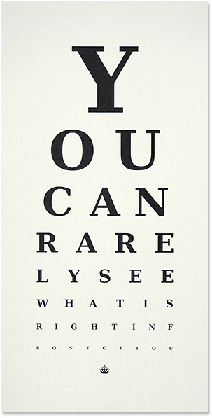 Rarely Eye Chart by The Lepolas