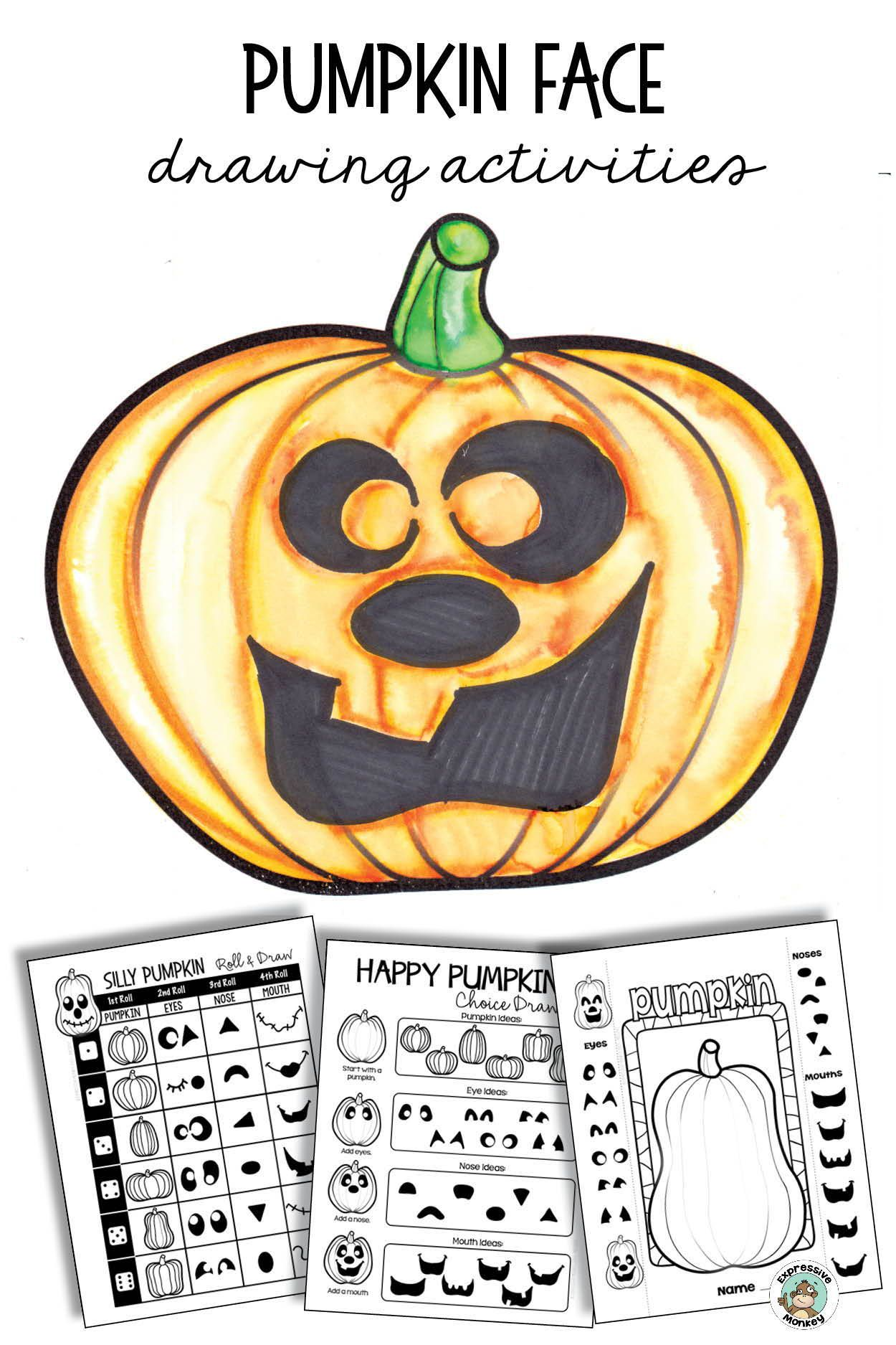 Halloween Activity Jack O Lantern Drawing Art Project Art Projects Halloween Art Projects Easy Art Projects