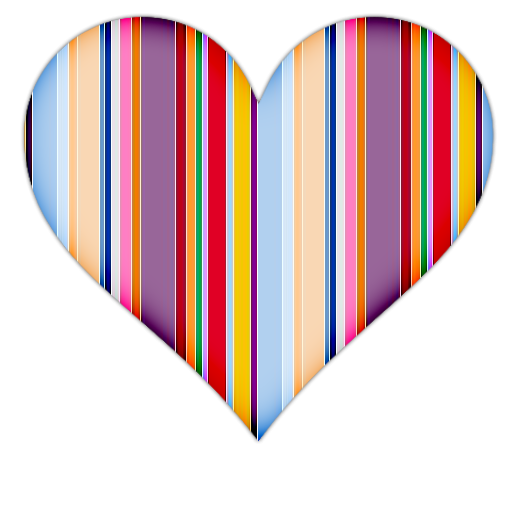 Heart With Colorful Vertical Lines Icon Png Clipart Image Iconbug Com Clip Art Line Icon Vertical