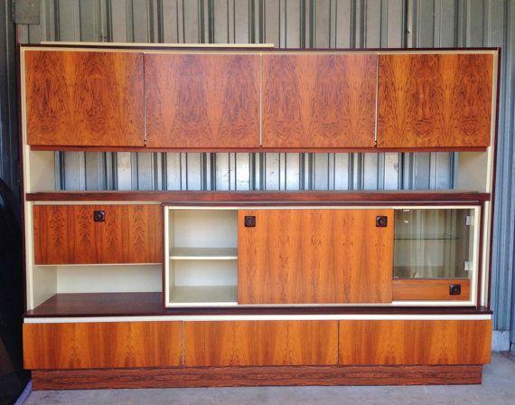 Exquisite Large Rosewood Danish Modern Wall Unit C 1970 Cabinet Bar Secretary Storage Entertainment Center On Ets Modern Wall Units Wall Unit Danish Modern