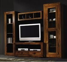 Mueble Rustico Para La Sala De Entretenimiento Muebles Decoraciones De Casa Muebles Para Living Comedor