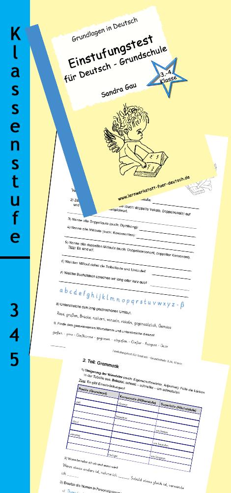 Einstufungstest für Deutsch Grundschule Grundschule