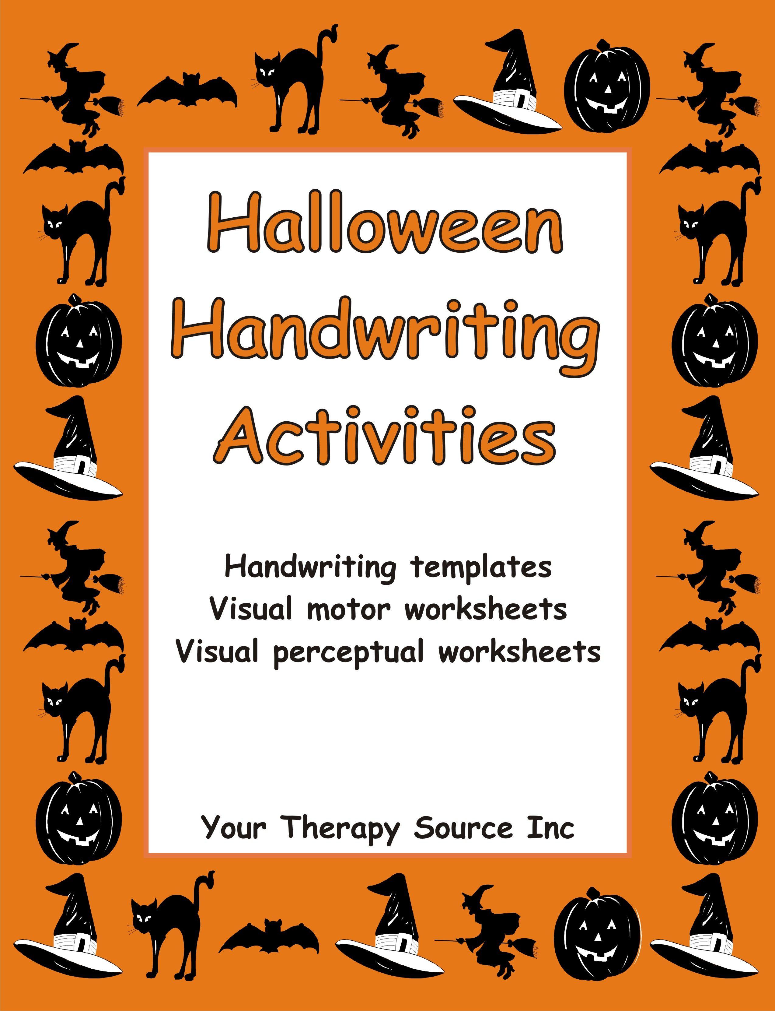 Halloween Handwriting Activities With Images