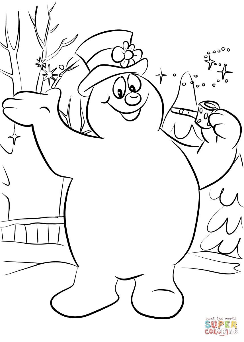 Frosty The Snowman Coloring Pages Frosty The Snowman Coloring Page