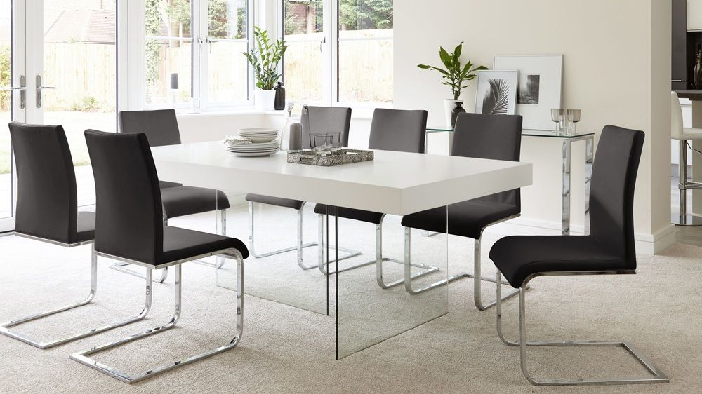 Aria white oak and verona dining set dining chairs