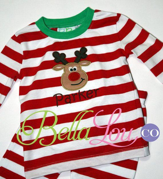 PREORDER - Embroidered or Monogrammed Christmas Pajamas - Newborn ...
