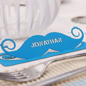 Are You Interested In Our Personalised Moustache Name Place Card For Wine Glasses With Glass Cards Weddings