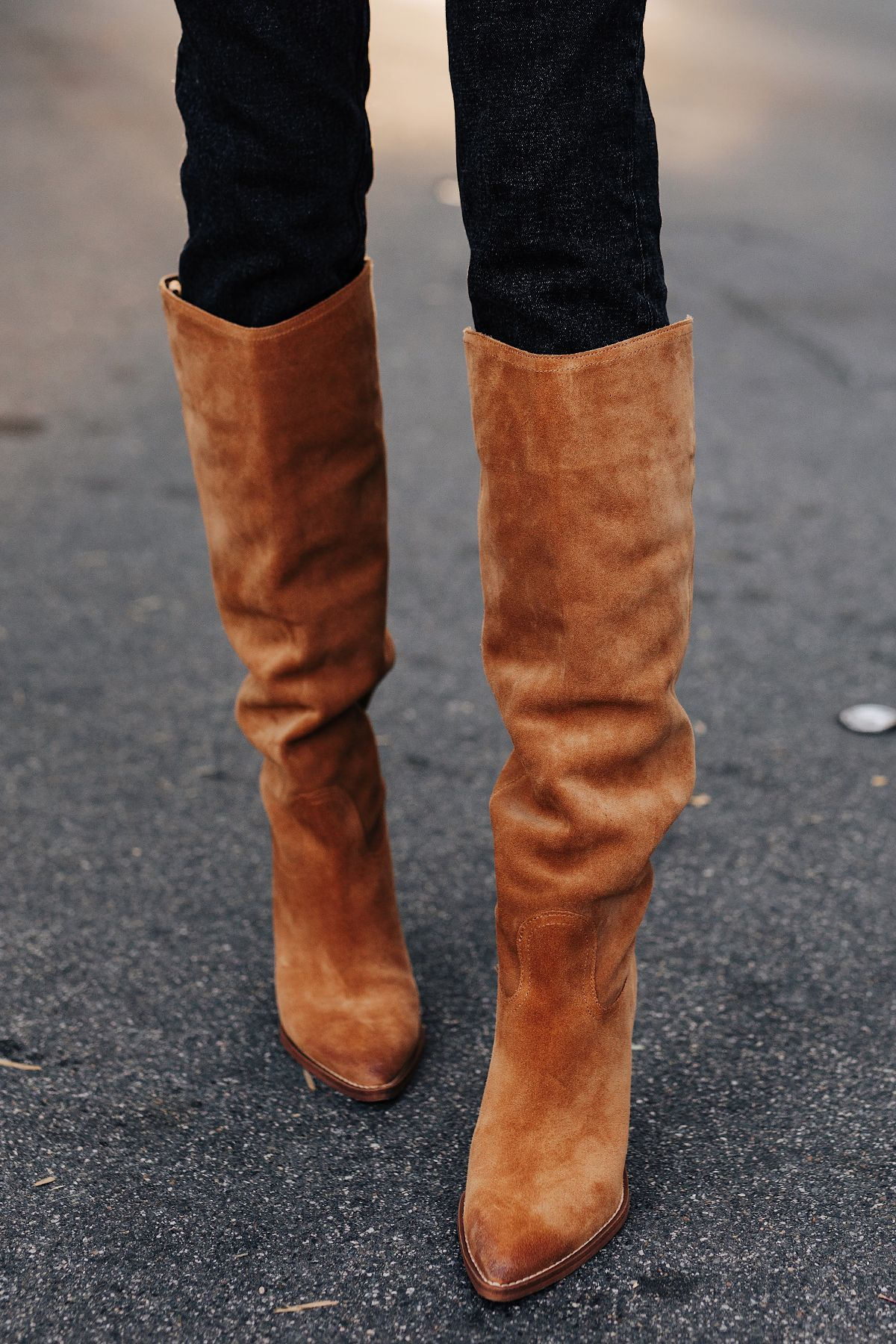Pointed Toe Knee High Boot