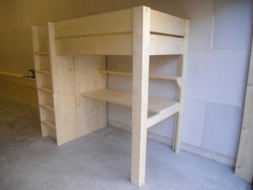 Hoogslaper Met Kast : Zon steigerhout meubels hoogslaper met kast alexander