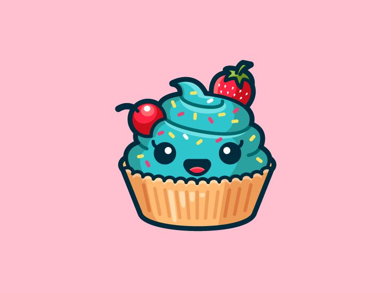 Ms. Cupcake | Cute cupcake drawing, Cute easy drawings, Cute kawaii drawings