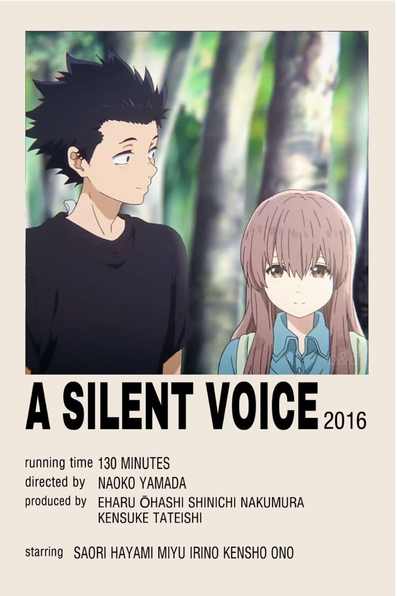 A Silent Voice Anime Poster Movie/Minimalist
