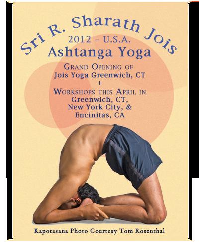 sharath leading workshops in april  jois yoga in
