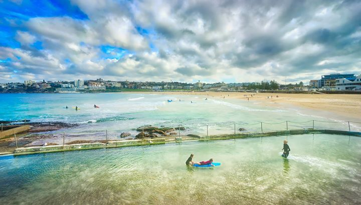Amazing Bondi Beach! I've always heard about this place and wanted to go... so this time we definitely set aside some time to make it happen. I didn't get to spend too much time here   basically just a quick lunch then off to that amazing photo walk. #treyratcliff More on my blog at http://ift.tt/qCe472