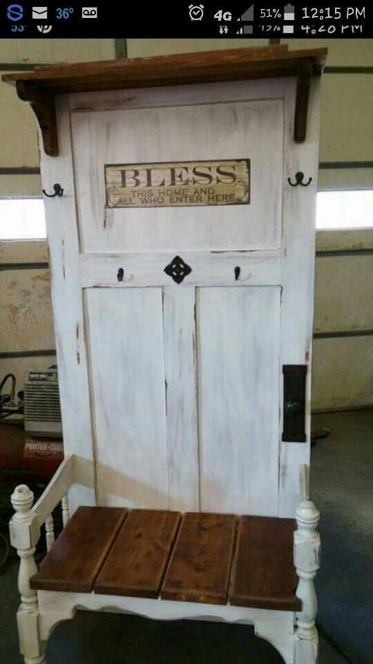 Wooden Door Coat Hanger, Old Wooden Door Coat Rack