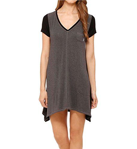 DKNY Womens Urban Essentials Short Sleeve Sleepshirt Heather Charcoal  Nightgown SM     To view further for this item db72dd44c