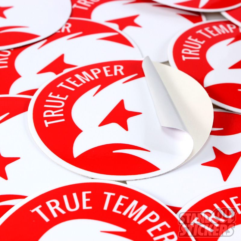 Custom circle stickers for true temper bicycle tubing made in usa