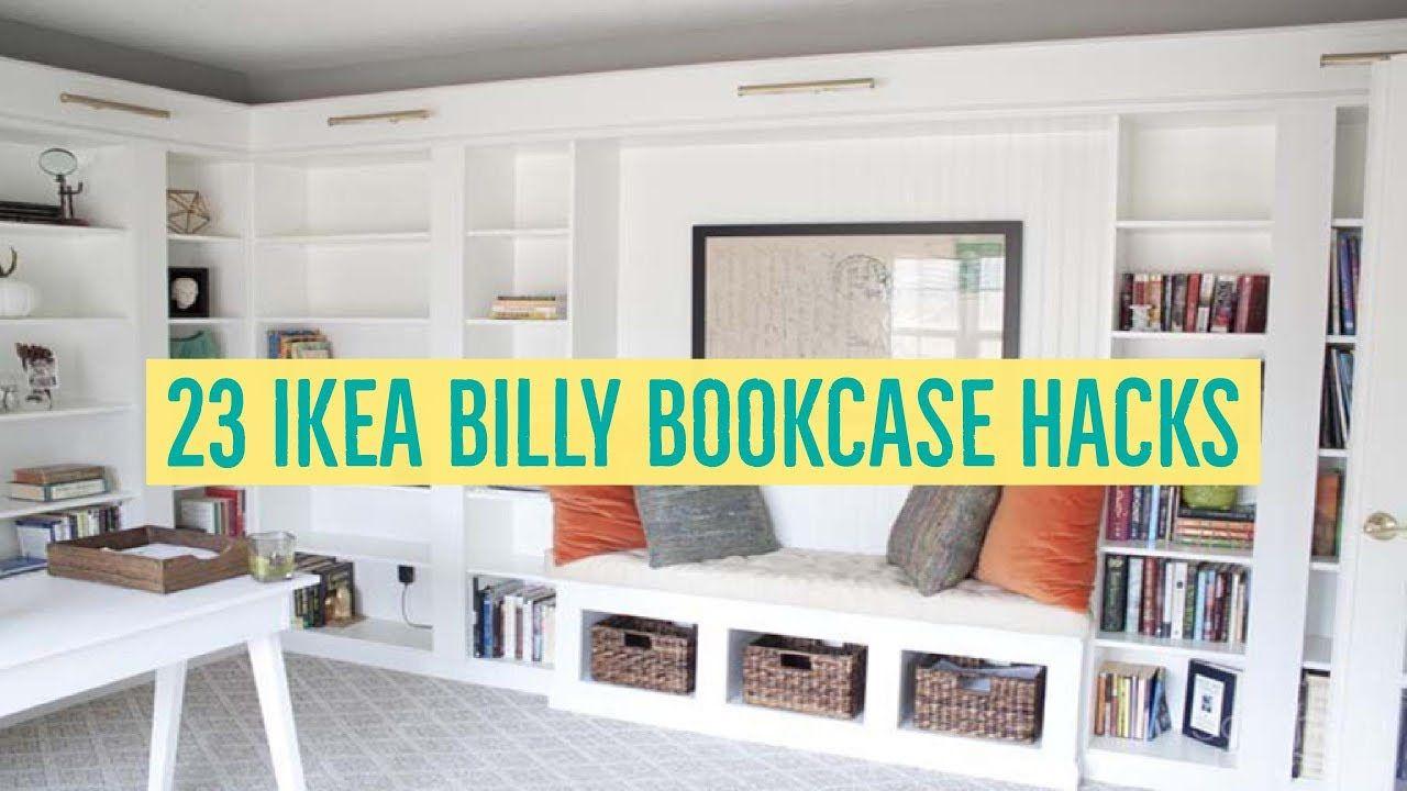 23 Ikea Billy Bookcase Hacks Billy Bookcase Hack Ikea Billy
