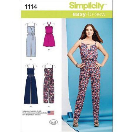 Simplicity Misses' Easy Dress And Jumpsuits XXSXSSMLXLXXL Adorable Walmart Dress Patterns