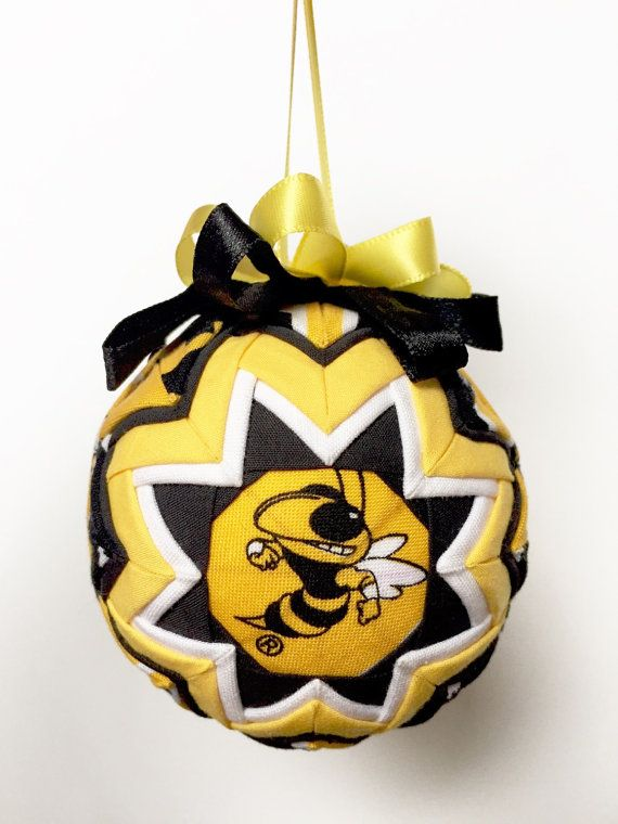 Georgia Tech Yellow Jackets Handmade Quilted Ornament - Georgia Tech Yellow Jackets Handmade Quilted Ornament Georgia Tech