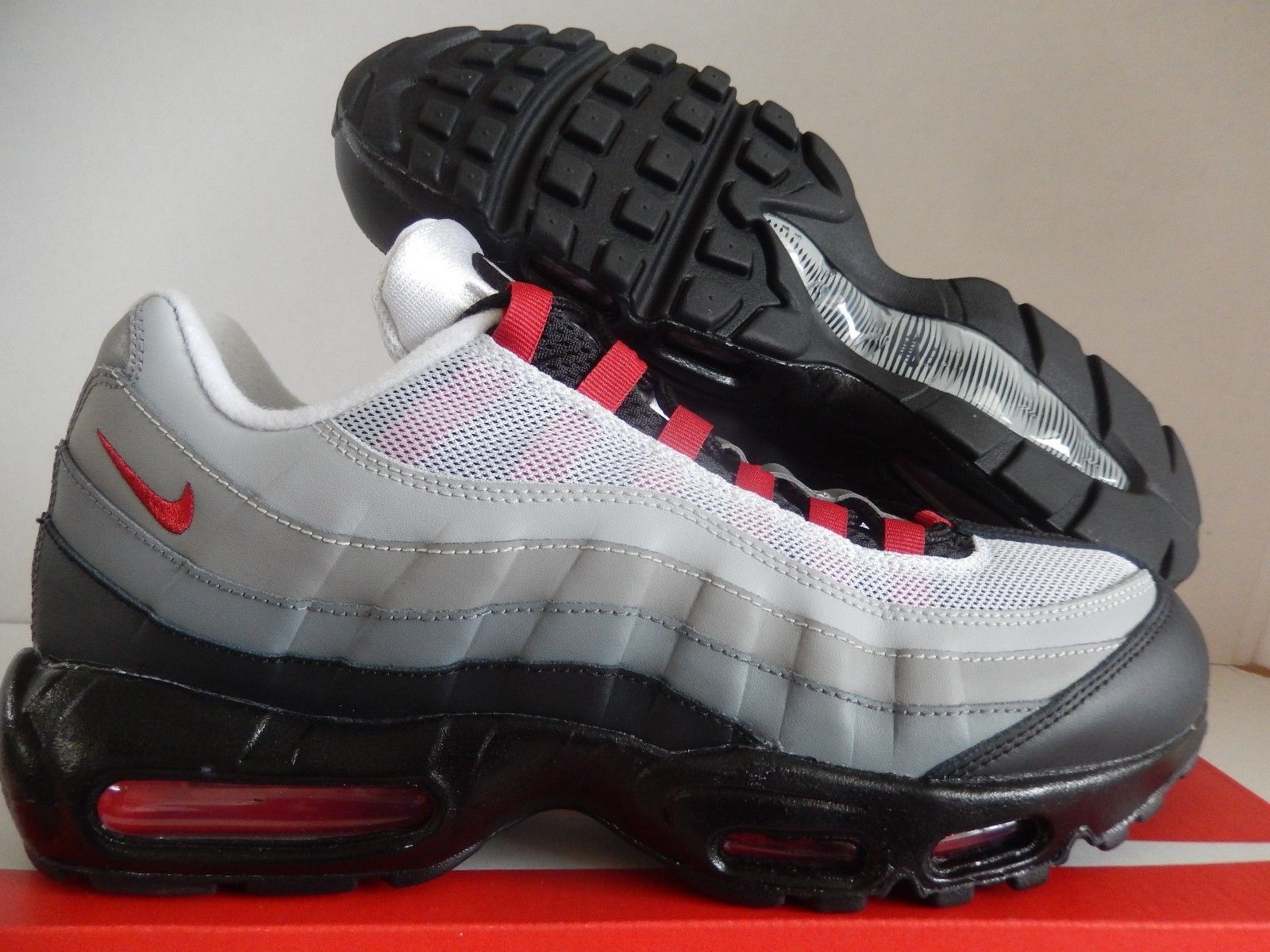 df9dd1d795 MENS NIKE AIR MAX 95 ID GREY-BLACK-RED-WHITE SZ 11 [818592-995 ...