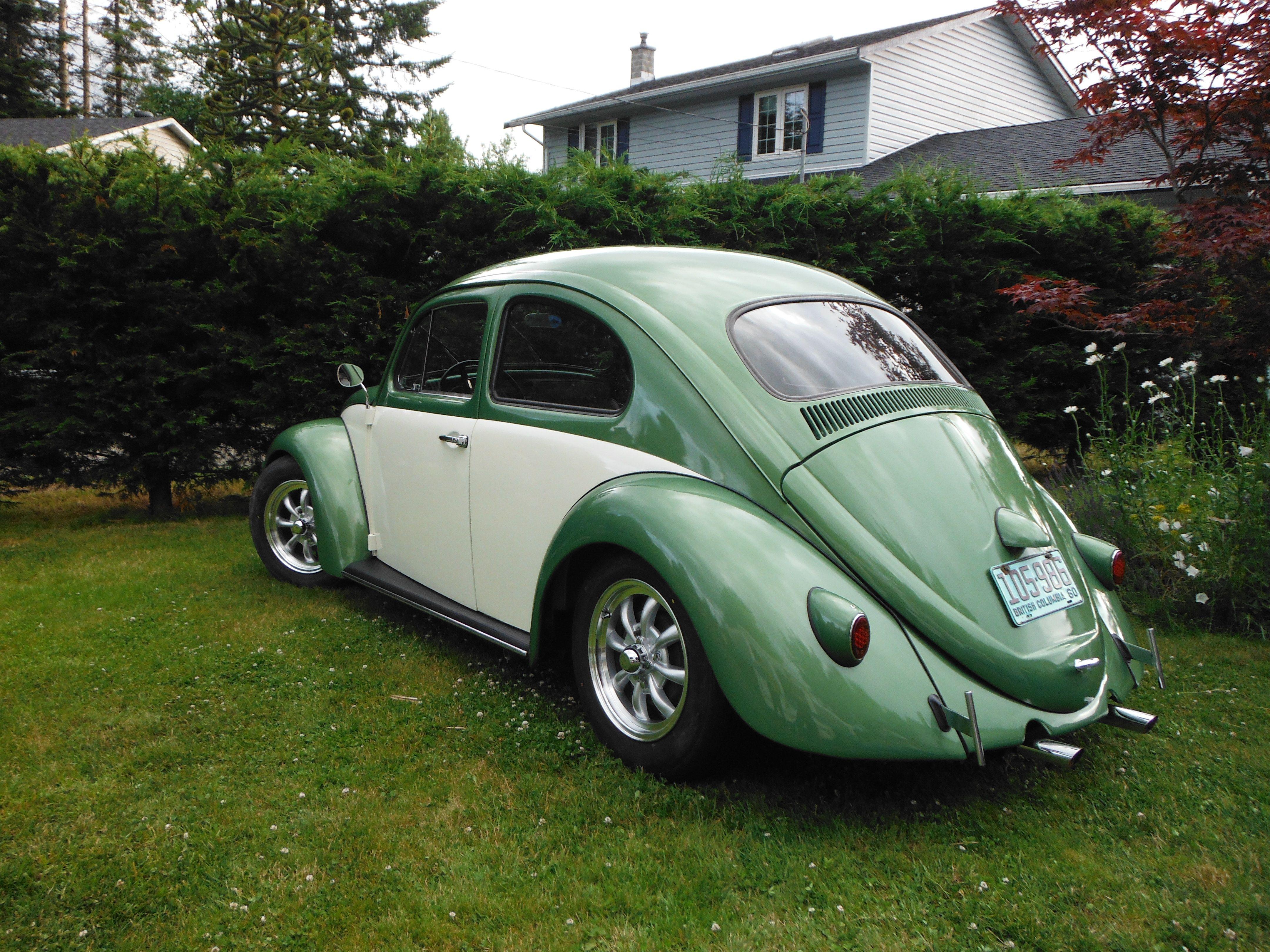 Custom Built Vw Beetle 1966 Chassis With A 1960 Body Original Glass Snowflake Rear Lights Vw Beetles Beetle Custom Build