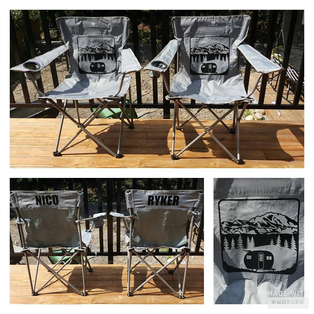 Personalized Camping Chairs For Friends Camping Trailer Craftymama Silhouettec Personalized Camping Chairs Personalized Camping Camping Chairs