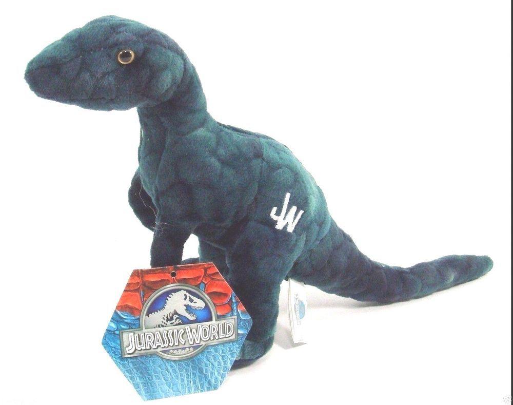 Jurassic World Park Velociraptor 7 Blue Raptor Dinosaur Plush