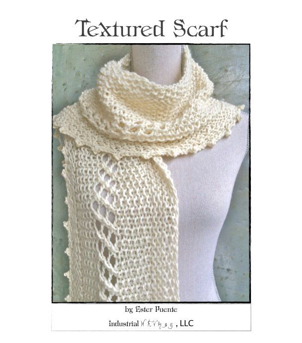 Wwkip Day Textured Scarf Knitting Pattern Craft Party Diy