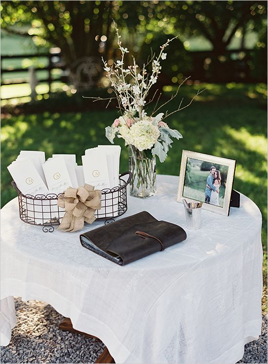 Oh So Sweet Natural Wedding Wedding Welcome Table Wedding Table