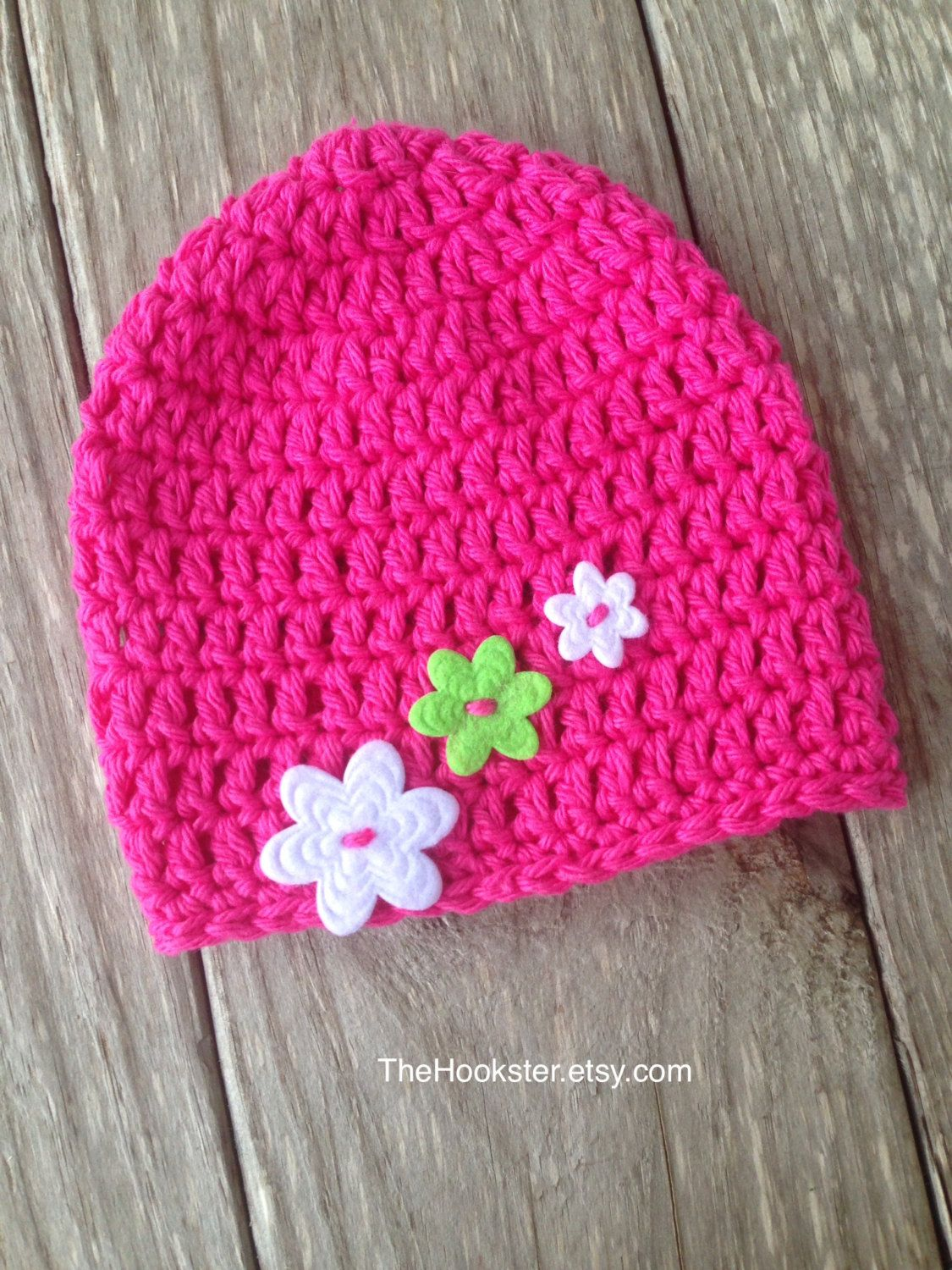 f3660e2ea51 Handmade Baby Hat in Bright Pink