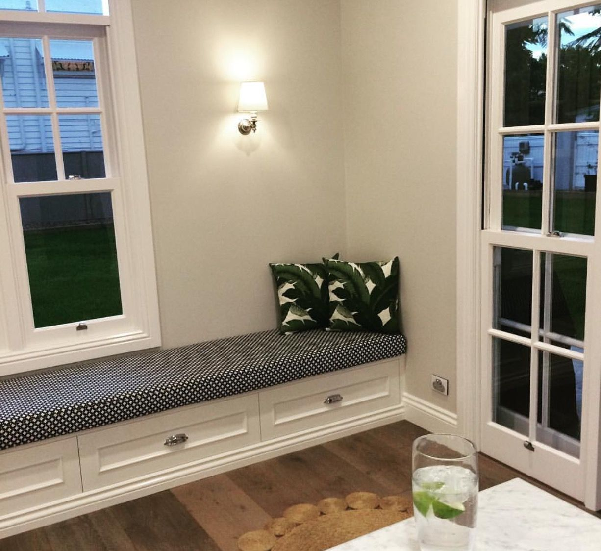 diy window bench with drawers