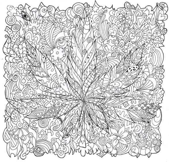 Trippy Mushroom Coloring Pages Psychedelic Mushroom Coloring