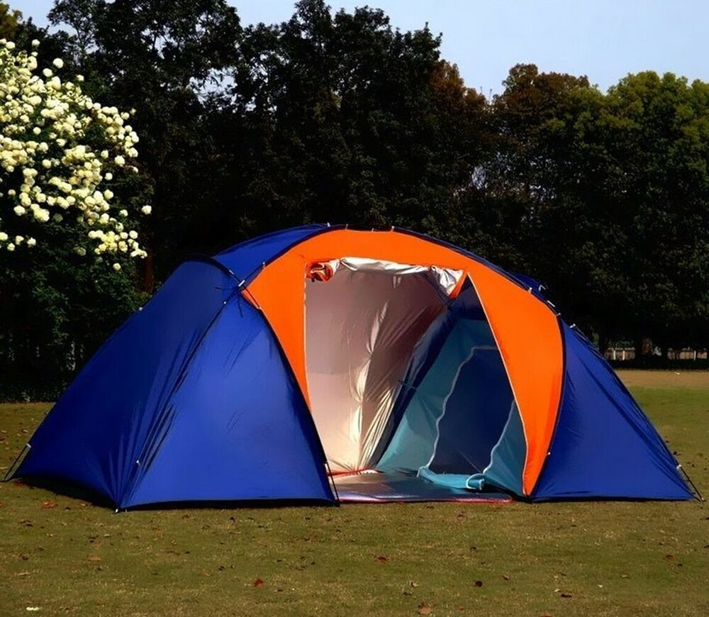 5-6 Persons Large Family Camping Tent 2 Rooms 1 Hall ...