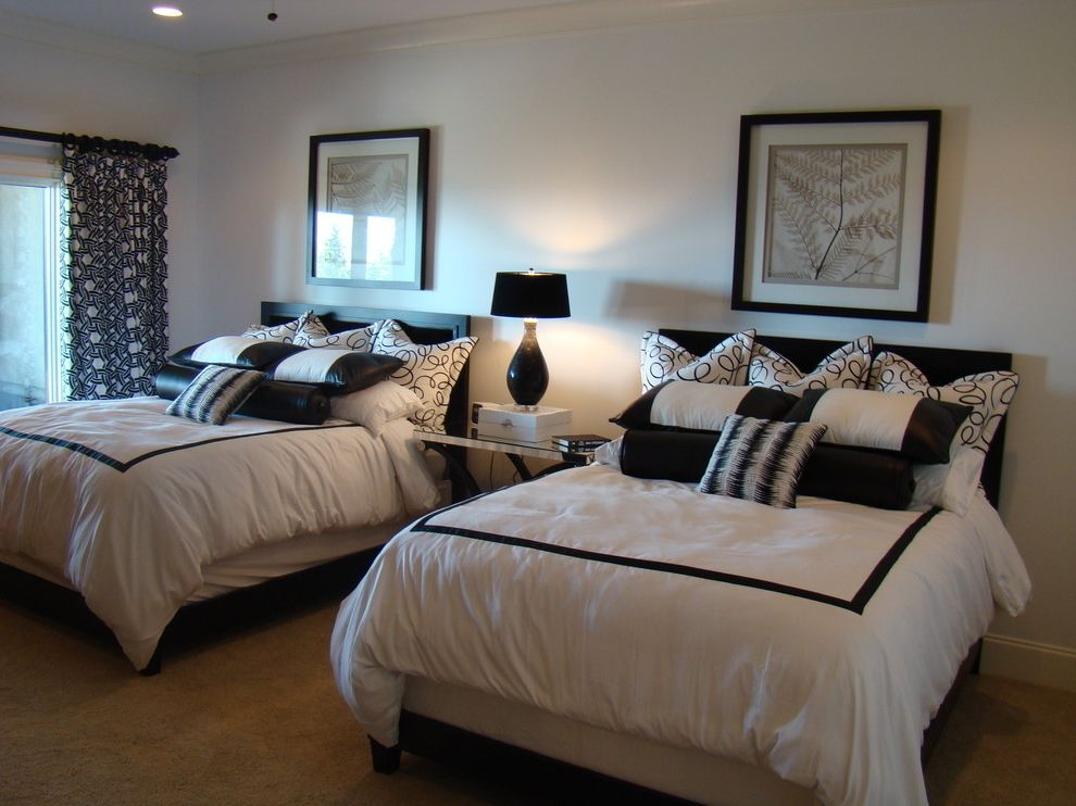 Best Extraordinary Black And White Bedroom Ideas With 2 Bed And 400 x 300