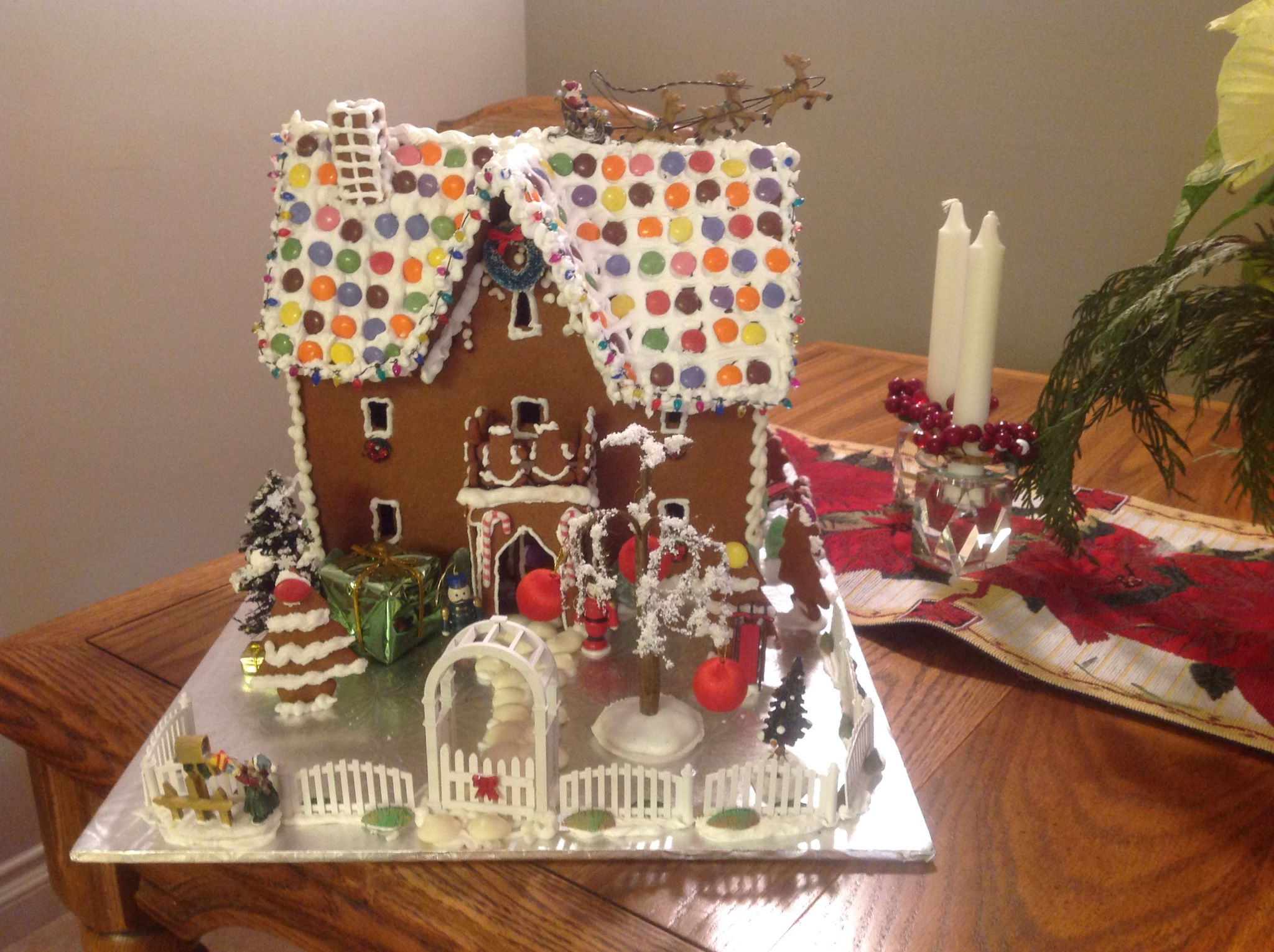 A 3 story gingerbread house Gingerbread house